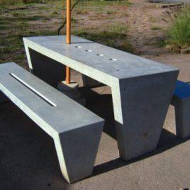 Juego de Mesas y Bancas de Hormigón MIM - Mesas de Hormigón - Mesas de Concreto